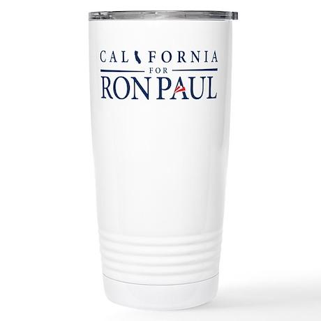 California for Ron Paul Stainless Steel Travel Mug