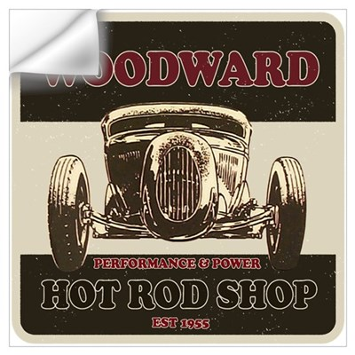 Woodward Hot Rod Shop Wall Decal