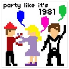 party like it's 1981 Canvas Art