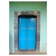 Blue Door in Mexico Poster