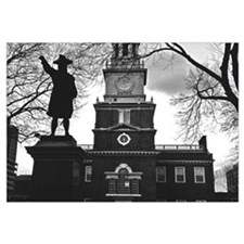Independence Hall B/W