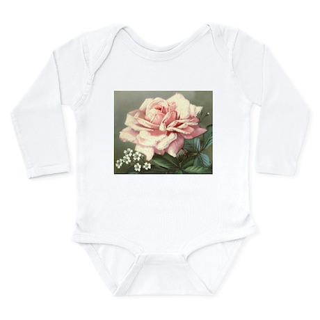 VICTORIAN ROSE Long Sleeve Infant Bodysuit