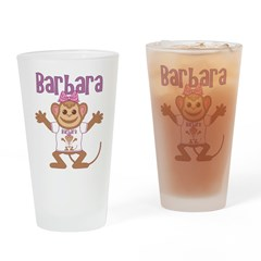 Little Monkey Barbara Drinking Glass