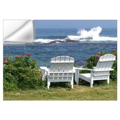 Downeast Oceanfront View Wall Decal