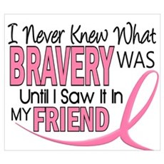 Bravery (Friend) Breast Cancer Framed Print