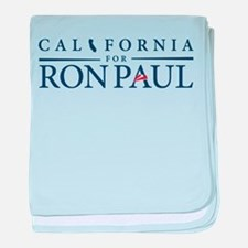 California for Ron Paul baby blanket
