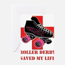 Unique Roller derby Greeting Card