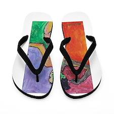 ORANGE MELANIE Flip Flops