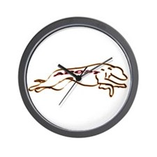 Adopt a Greyhound Orange and Wall Clock