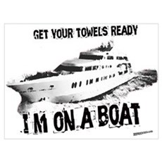 I'm on a Boat Canvas Art