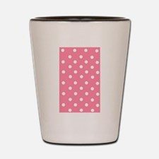 Pink with White Dots Shot Glass