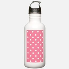 Pink with White Dots Water Bottle