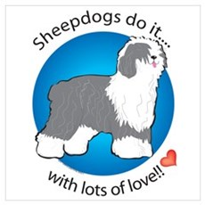English Sheepdogs Do It Poster