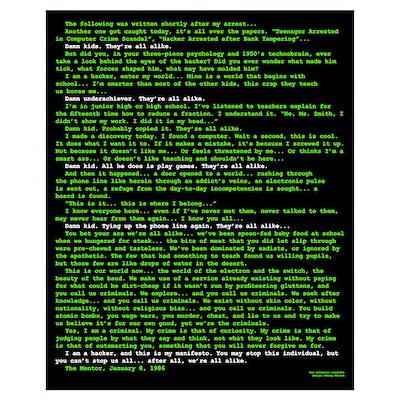 Hacker's Manifesto Poster