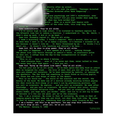 Hacker's Manifesto Wall Decal