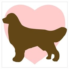Golden Retriever Heart Poster