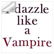 I kiss like a Vampire Wall Decal