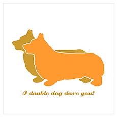 Corgi Double Dog Poster