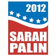 Palin Red White Blue Poster