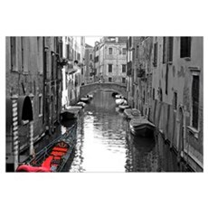 Venice Canal with Gondola Framed Print
