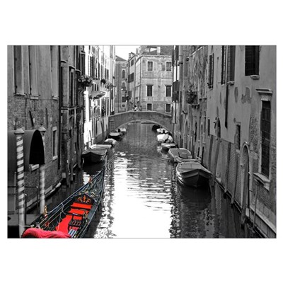 Venice Canal with Gondola Poster