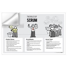 Roles of Scrum (Female ScrumMaster) Wall Decal