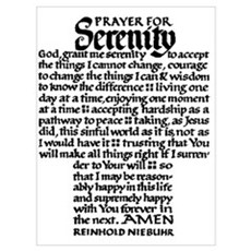 FULL SERENITY PRAYER Poster