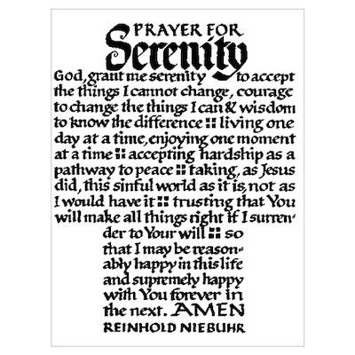FULL SERENITY PRAYER Poster