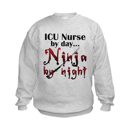 ICU Nurse Ninja Kids Sweatshirt