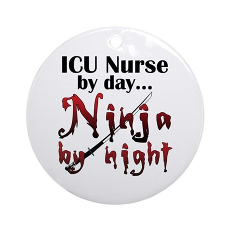 ICU Nurse Ninja Ornament (Round)
