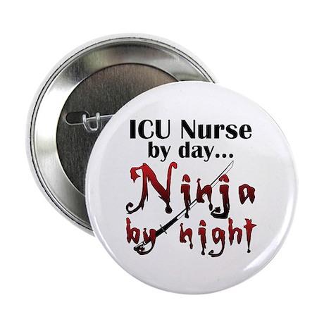 """ICU Nurse Ninja 2.25"""" Button (10 pack)"""