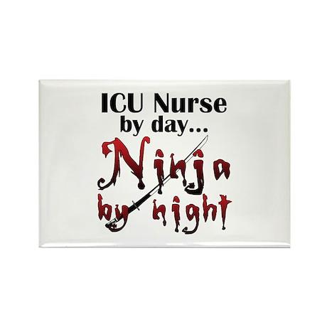 ICU Nurse Ninja Rectangle Magnet