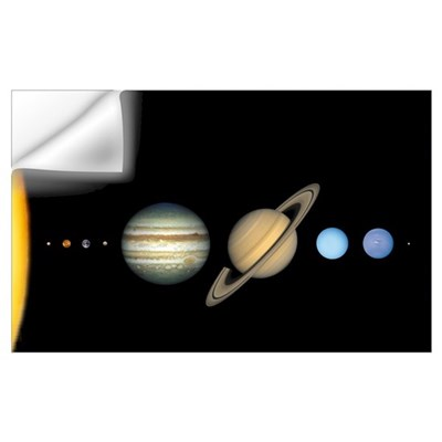 Solar System to Scale Mini Astronomy Print Wall Decal