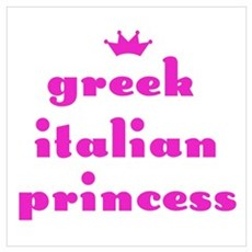 Greek Italian Princess (pink) Poster