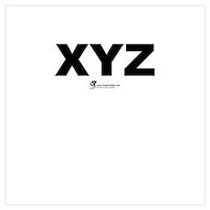 XYZ Poster