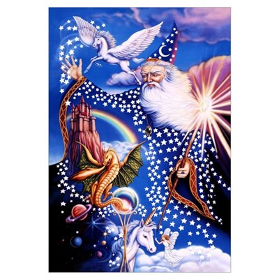 Wizard Large 23x35 Framed Print