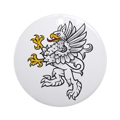 Gryphon Ornament (Round)