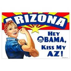 Kiss My AZ Canvas Art