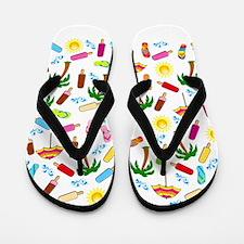 Beach Pattern Flip Flops