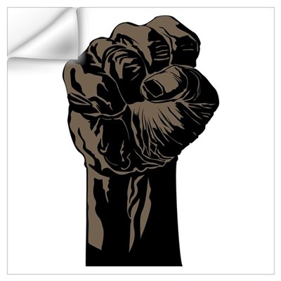 The Black Fist Wall Decal