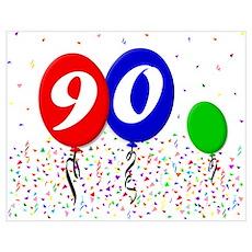 90th Birthday Poster
