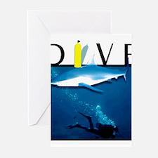 Cute Scuba diver bubbles Greeting Cards (Pk of 10)