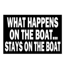 WHAT HAPPENS ON THE BOAT Postcards (Package of 8)