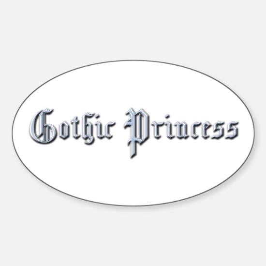 Gothic Princess Oval Decal