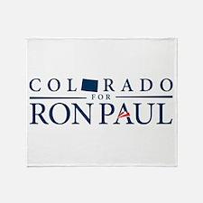 Colorado for Ron Paul Throw Blanket
