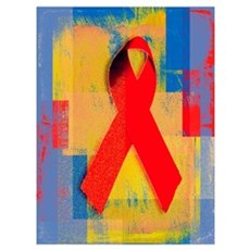 Red Ribbon Canvas Art