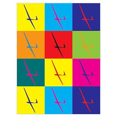Gliding Pop Art Poster