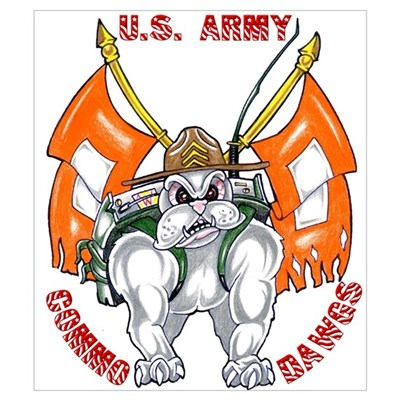 U.S. Army Commo Dawgs Poster