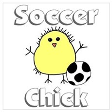 Soccer Chick Poster