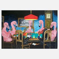 Flamingos Playing Poker